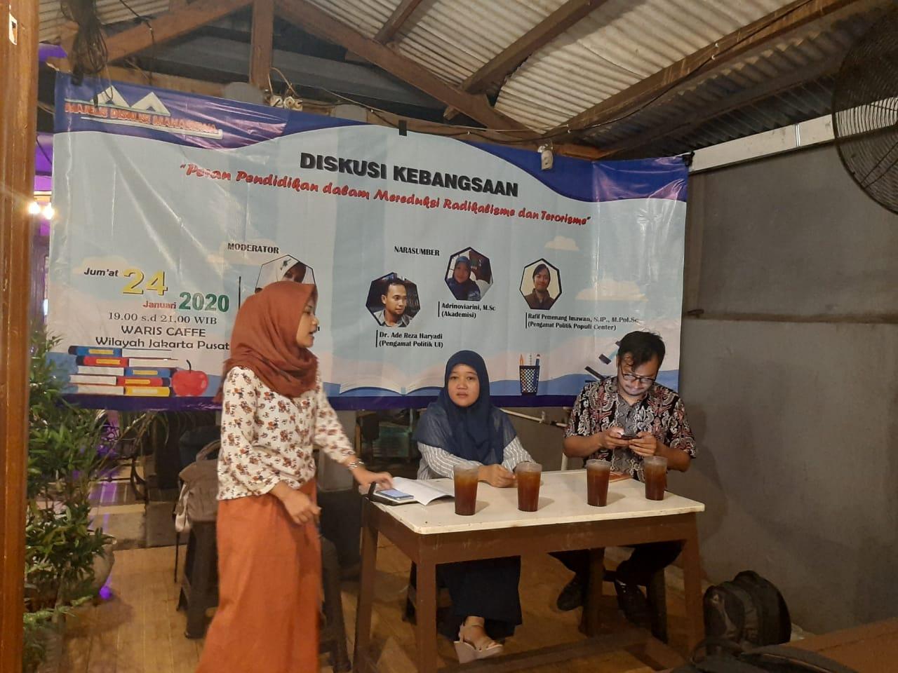 Majelis Diskusi Mahasiswa Gelar Diskusi Kebangsaan, Peran Pendidikan Dalam Mereduksi Radikalisme dan Terorisme